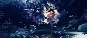 Rating: Safe Score: 80 Tags: 2girls animal barefoot blue bubbles dress fish haiyi leiq synthesizer_v underwater vocaloid water xingchen User: Dreista