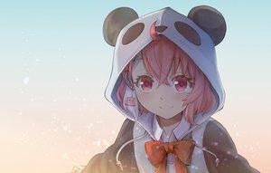 Rating: Safe Score: 44 Tags: bow gradient haniwa hoodie nijisanji pink_eyes pink_hair sasaki_saku short_hair User: Fepple