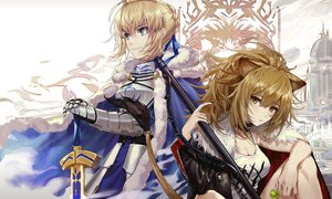 Rating: Safe Score: 57 Tags: animal_ears arknights armor artoria_pendragon_(all) blonde_hair breasts brown_eyes candy cape catgirl cleavage crossover csyko fate/grand_order fate_(series) green_eyes lollipop ponytail saber short_hair siege_(arknights) sword tail weapon User: Nepcoheart