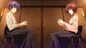 Rating: Safe Score: 25 Tags: blue_eyes blue_hair brown_hair game_cg japanese_clothes koi_de_wa_naku makishima_yumi male norifumi_(koi_de_wa_naku) short_hair tomose_shunsaku User: Katsumi