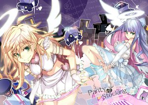 Rating: Safe Score: 176 Tags: blonde_hair garterbelt_(character) green_eyes panties panty_&_stocking_with_garterbelt panty_(character) pm_ringo purple_hair stocking_(character) underwear undressing wings User: opai