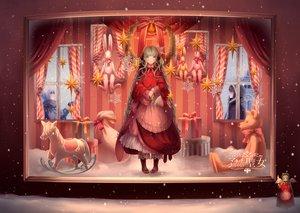Rating: Safe Score: 83 Tags: braids bunny dress hatsune_miku ikushima long_hair snow stars teddy_bear vocaloid User: opai