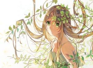 Rating: Safe Score: 102 Tags: aliasing brown_hair green_eyes leaves long_hair original tatsumi3 User: FormX