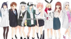Rating: Safe Score: 36 Tags: ama_mitsuki anthropomorphism aqua_hair black_eyes black_hair blonde_hair boots bow brown_eyes brown_hair fusou_(kancolle) gloves gray_hair group headband i-58_(kancolle) kantai_collection kashima_(kancolle) kneehighs long_hair ooi_(kancolle) pantyhose pink_eyes pink_hair rensouhou-chan scarf seifuku shimakaze_(kancolle) shirayuki_(kancolle) short_hair shoukaku_(kancolle) skirt suzuya_(kancolle) tie twintails wink User: RyuZU