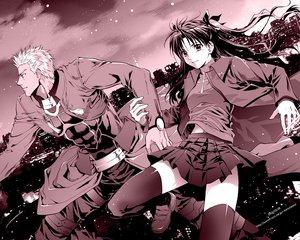 Rating: Safe Score: 12 Tags: archer fate_(series) fate/stay_night male monochrome tohsaka_rin User: Oyashiro-sama