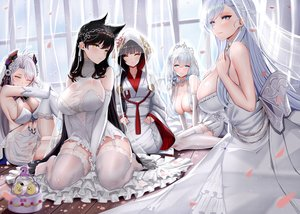 Rating: Safe Score: 294 Tags: animal animal_ears anthropomorphism atago_(azur_lane) azur_lane belfast_(azur_lane) bird cake food foxgirl garter_belt group illustrious_(azur_lane) japanese_clothes kimono manjuu_(azur_lane) piukute062 prinz_eugen_(azur_lane) takao_(azur_lane) wedding_attire User: Fepple