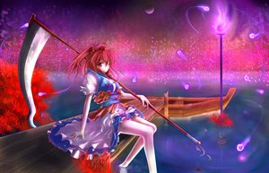 Rating: Safe Score: 34 Tags: onozuka_komachi scythe tagme_(artist) touhou weapon User: RyuZU
