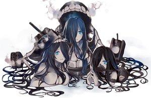 Rating: Safe Score: 167 Tags: akira_(ying) anthropomorphism aqua_eyes black_hair breasts cleavage ka-class_submarine kantai_collection long_hair so-class_submarine yo-class_submarine User: Flandre93
