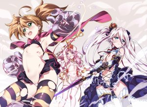Rating: Questionable Score: 133 Tags: aliasing blue_eyes bow breasts brown_hair cape dina_(sennen_sensou_aigis) dress green_eyes hat iris_(sennen_sensou_aigis) long_hair navel niko_(tama) pink_hair purple_hair sennen_sensou_aigis sword sybilla thighhighs torn_clothes twintails weapon User: luckyluna