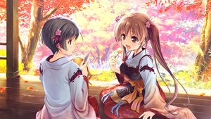 Rating: Safe Score: 19 Tags: 2girls august autumn food game_cg japanese_clothes knife leaves miko sen_no_hatou_tsukisome_no_kouki shade shiinoha_kotone tagme_(artist) tagme_(character) twintails User: luckyluna