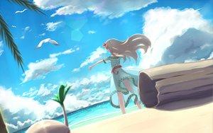 Rating: Safe Score: 96 Tags: beach clouds dress marin mille summer_dress the_legend_of_zelda User: opai