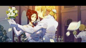 Rating: Safe Score: 25 Tags: amy_bartlett blonde_hair cheese_kang flowers red_hair shoujo_ai tagme_(character) violet_evergarden violet_evergarden_(character) User: Dreista