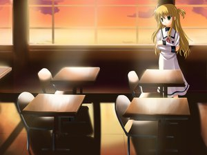 Rating: Safe Score: 19 Tags: alisa_bannings mahou_shoujo_lyrical_nanoha seifuku User: Oyashiro-sama