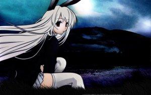 Rating: Safe Score: 67 Tags: animal_ears bunny_ears bunnygirl cradle dark reisen_udongein_inaba touhou User: Oyashiro-sama