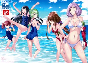 Rating: Safe Score: 106 Tags: anthropomorphism aoki_hagane_no_arpeggio ashigara_(arpeggio) ass bikini breasts cleavage eyepatch flat_chest glasses group haguro_(arpeggio) hiei_(arpeggio) jpeg_artifacts long_hair mutsumi_masato myoukou_(arpeggio) nachi_(arpeggio) scan short_hair swimsuit twintails water wink User: Flandre93