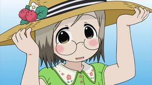 Rating: Safe Score: 22 Tags: blush close glasses hat ichigo_mashimaro sakuragi_matsuri vector User: HawthorneKitty