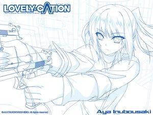 Rating: Safe Score: 29 Tags: iizuki_tasuku inubousaki_aya lovely_x_cation sketch User: oranganeh