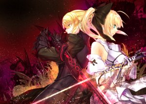 Rating: Safe Score: 42 Tags: aqua_eyes armor bow fate/grand_order fate_(series) ponytail saber saber_alter sword tagme_(artist) weapon yellow_eyes User: luckyluna