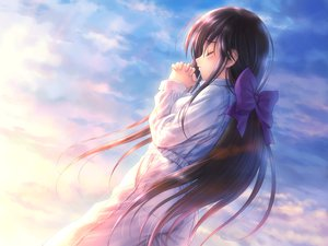Rating: Safe Score: 80 Tags: brown_hair goto_p long_hair narcissu sky User: PAIIS