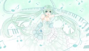 Rating: Safe Score: 22 Tags: dress green_eyes green_hair hatsune_miku long_hair polychromatic tsu-kaze twintails vocaloid User: sadodere-chan