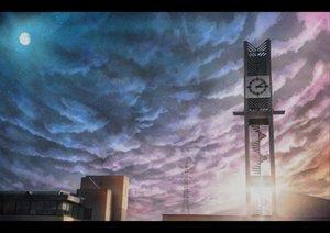 Rating: Safe Score: 112 Tags: clouds hono_mochizuki moon nobody original scenic sky stairs stars User: opai