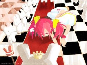 Rating: Safe Score: 25 Tags: bunny doll dress glasses harada_takehito long_hair original pink_hair twintails User: Oyashiro-sama