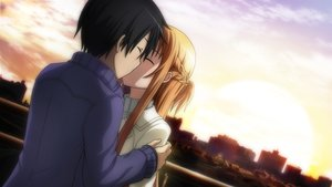 Rating: Safe Score: 31 Tags: black_hair braids brown_hair building city clouds game_cg kirigaya_kazuto kiss long_hair male scenic short_hair sky sword_art_online tagme_(artist) yuuki_asuna User: RyuZU
