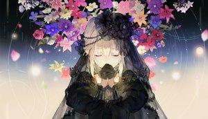 Rating: Safe Score: 90 Tags: blonde_hair crying dress flowers gloves goth-loli gradient hat headdress hihara_you lolita_fashion long_hair original tears User: BattlequeenYume