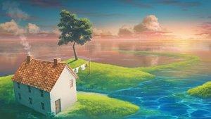 Rating: Safe Score: 37 Tags: building clouds lighthouse monorisu original sky sunset train tree water User: RyuZU