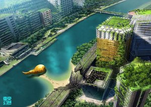 Rating: Safe Score: 55 Tags: building city landscape original ruins scenic tokyogenso tree water watermark User: RyuZU