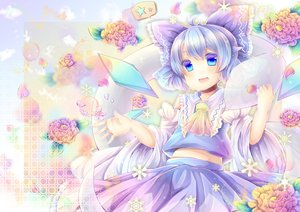 Rating: Safe Score: 40 Tags: blue_eyes blue_hair bow cirno pjrmhm_coa touhou User: Zolxys