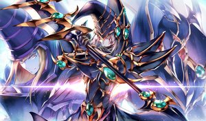 Rating: Safe Score: 35 Tags: all_male aqua_eyes armor black blonde_hair buster_blader dark_magician dark_paladin gloves headdress long_hair male mask spear tagme_(artist) tattoo weapon yellow_eyes yu-gi-oh User: otaku_emmy