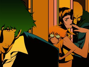 Rating: Safe Score: 13 Tags: black_hair cigarette cowboy_bebop edward_wong_hau_pepelu_tivrusky_iv faye_valentine goggles green_eyes green_hair jet_black orange_eyes orange_hair polychromatic short_hair smoking spike_spiegel suit User: haru3173
