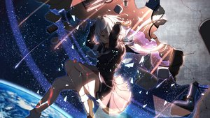 Rating: Safe Score: 67 Tags: blue_eyes earth ichiyō_smash long_hair original planet seifuku skirt_lift sky socks space stars white_hair User: あかり