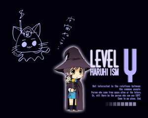 Rating: Safe Score: 87 Tags: animal black bow brown_eyes cape cat chibi gray_hair hat jpeg_artifacts kneehighs nagato_yuki nagian school_uniform short_hair suzumiya_haruhi_no_yuutsu wand witch User: Oyashiro-sama