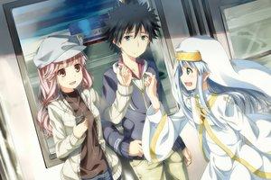 Rating: Safe Score: 107 Tags: index kamijou_touma meigo_arisa nun to_aru_majutsu_no_index train yuuri_nayuta User: Stealthbird97