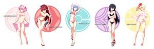 Rating: Safe Score: 291 Tags: akemi_homura bikini black_hair blonde_hair blue_eyes blue_hair blush breasts cleavage flat_chest kaname_madoka long_hair mahou_shoujo_madoka_magica miki_sayaka navel pink_eyes pink_hair red_eyes red_hair sakura_kyouko short_hair swimsuit tomoe_mami tsukumo undressing wink User: FormX