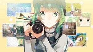 Rating: Safe Score: 65 Tags: camera green_eyes green_hair gumi hat koyubi short_hair vocaloid User: Dummy