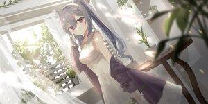 Rating: Safe Score: 61 Tags: chihuri405 dress genshin_impact keqing_(genshin_impact) leaves purple_eyes purple_hair summer_dress twintails User: BattlequeenYume