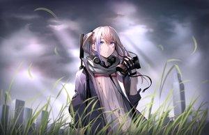Rating: Safe Score: 101 Tags: anthropomorphism blonde_hair blue_eyes building city clouds girls_frontline gloves grass gun long_hair mask scarf shijiu_(adamhutt) sky st_ar-15_(girls_frontline) weapon User: otaku_emmy