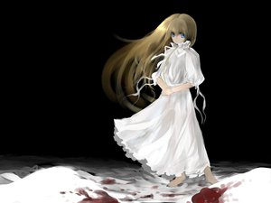 Rating: Safe Score: 39 Tags: black blood dress ribbons snow tagme white User: atlantiza
