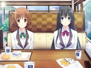 Rating: Safe Score: 36 Tags: aihara_saori escu:de game_cg gurenka nagatsuki_fumika nekonyan User: Maboroshi