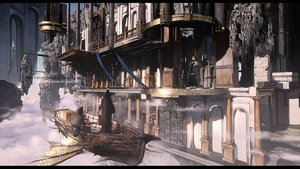 Rating: Safe Score: 49 Tags: boat building city clouds original pixiv_fantasia swd3e2 watermark User: RyuZU