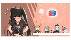Rating: Safe Score: 56 Tags: anthropomorphism black_hair blue_hair blush bow brown_eyes brown_hair chibi g11_(girls_frontline) ganesagi girls_frontline gloves gray_hair group hat hk416_(girls_frontline) long_hair navel ouroboros_(girls_frontline) ponytail scar scarf school_uniform sleeping twintails ump-45_(girls_frontline) ump-9_(girls_frontline) User: otaku_emmy