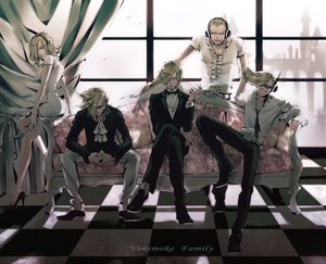 Rating: Safe Score: 46 Tags: blonde_hair cigarette couch dress headphones male one_piece qike_xiu sanji short_hair smoking suit sunglasses vinsmoke_ichiji vinsmoke_niji vinsmoke_reiju vinsmoke_yonji User: FormX