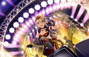 Rating: Safe Score: 5 Tags: boots breasts brown_hair cleavage collar elbow_gloves gloves guitar idolmaster idolmaster_cinderella_girls idolmaster_cinderella_girls_starlight_stage instrument kimura_natsuki microphone necklace short_hair tagme_(artist) thighhighs yellow_eyes User: RyuZU