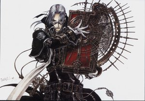 Rating: Safe Score: 5 Tags: abel_nightroad book glasses gloves gray_hair thores_shibamoto trinity_blood white User: atlantiza