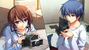Rating: Safe Score: 35 Tags: brown_hair camera game_cg koi_de_wa_naku makishima_yumi norifumi_(koi_de_wa_naku) short_hair tomose_shunsaku User: Wiresetc