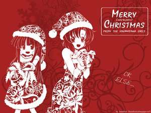 Rating: Safe Score: 37 Tags: 2girls christmas furude_rika hat higurashi_no_naku_koro_ni red ryuuguu_rena User: Oyashiro-sama