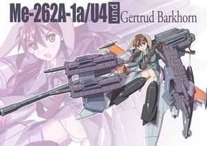 Rating: Safe Score: 45 Tags: brown_hair gertrud_barkhorn gun mecha navel nenchi panties strike_witches underwear weapon yellow_eyes User: FormX